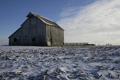 Photograph - Frozen Barn Fc by Dylan Punke