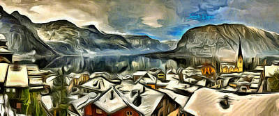 Norway Painting - Frozen Beauty - Da by Leonardo Digenio