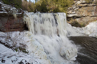 Photograph - Frozen Blackwater Falls by Jack Nevitt