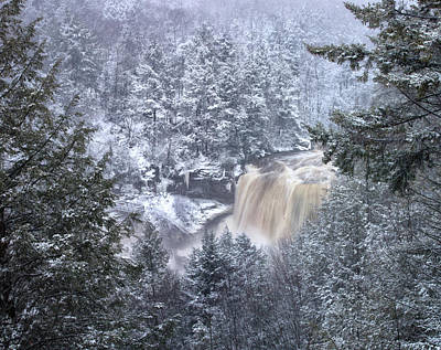 Photograph - Frozen Blackwater Falls, Wv by Jack Nevitt