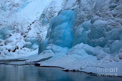Photograph - Frozen Blue Paradise by Adam Jewell