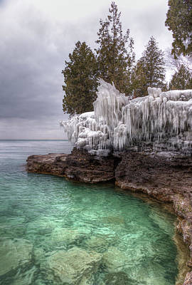 Photograph - Frozen by Brad Bellisle