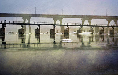 Photograph - Frozen Bridge by Jean Haynes