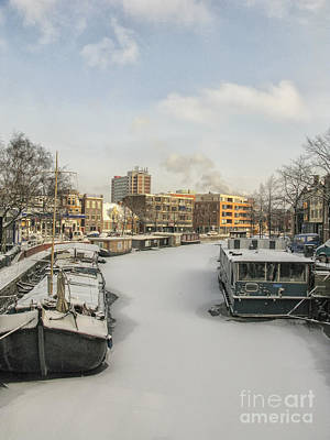 Photograph - Frozen Canal by Patricia Hofmeester