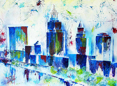 Painting - Frozen Cle by JoAnn DePolo