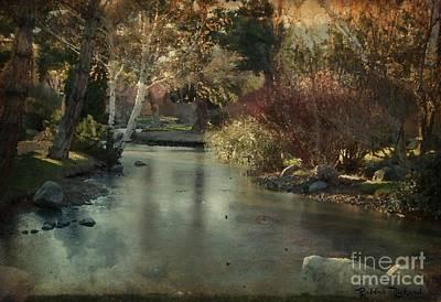Photograph - Frozen Creek Digital Oil Paint by Bobbee Rickard