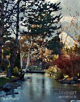 Photograph - Frozen Creek II Painting by Bobbee Rickard