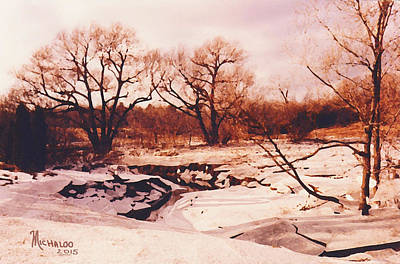 Photograph - Frozen Creek by Michael A Klein
