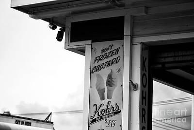 Kohr Photograph - Frozen Custard Infrared by John Rizzuto