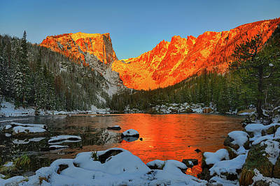 Bears Photograph - Frozen Dawn At Dream Lake by Greg Norrell