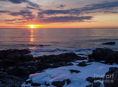 Photograph - Frozen Dawn, Oqunquit, Maine  -31135 by John Bald