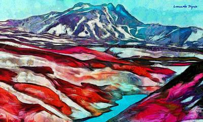 Morning Digital Art - Frozen Desert - Da by Leonardo Digenio