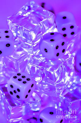 Photograph - Frozen Dice by Gerald Kloss
