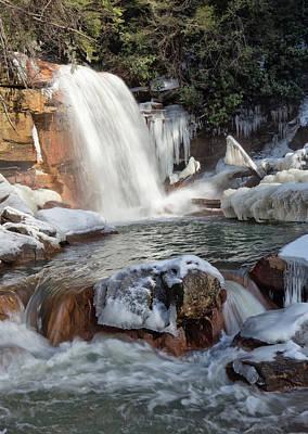Photograph - Frozen Douglas Falls by Jack Nevitt