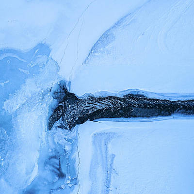 Aerial View Photograph - Frozen Estuary by Tor-Ivar Naess