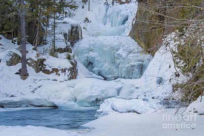 Photograph - Frozen Falls by Alana Ranney