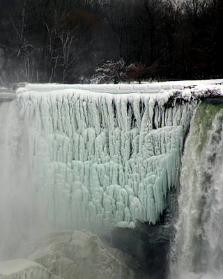 Photograph - Frozen Falls by Anthony Jones