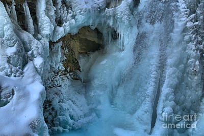 Photograph - Frozen Falls At Johnston Canyon by Adam Jewell