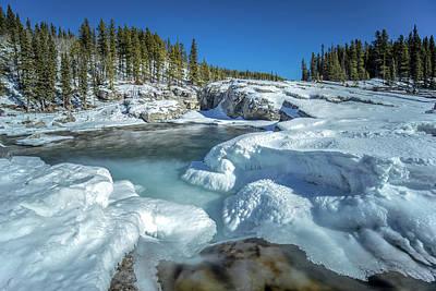 Photograph - Frozen Falls by Celine Pollard
