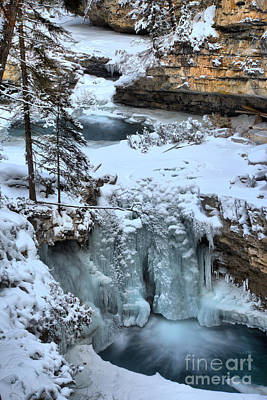 Photograph - Frozen Falls In Johnson Canyon by Adam Jewell
