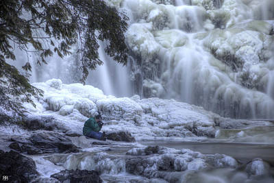 Photograph - Frozen Falls by John Meader