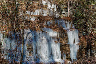 Photograph - Frozen Falls by Mark Guinn