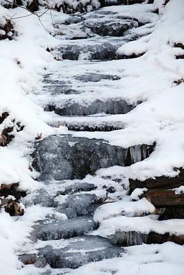 Frozen Falls Art Print by Peter  McIntosh
