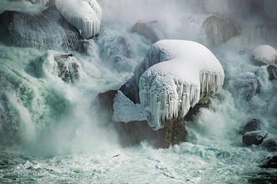 Frozen Falls Art Print by Tracy Munson