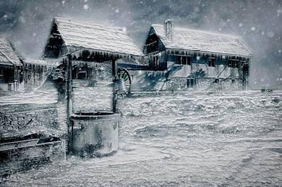 Mixed Media - Frozen Farm by Ractapopulous