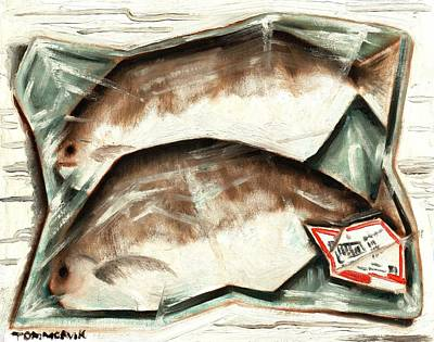 Painting - Frozen Fish Art Print by Tommervik