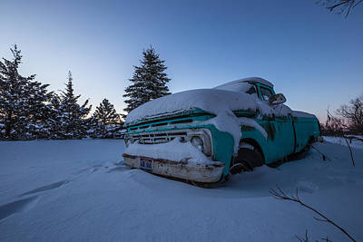 Photograph - Frozen Ford by Aaron J Groen