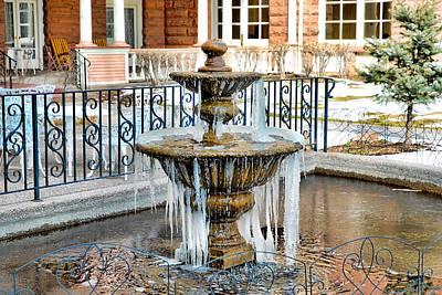 Photograph - Frozen Fountain by Robert Meyers-Lussier