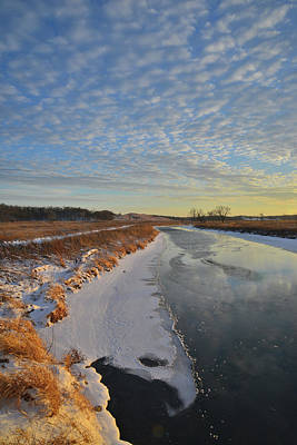 Photograph - Frozen Glacial Park At Sunset On Frigid Day by Ray Mathis