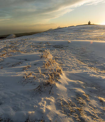 Photograph - Frozen Grass Between Two Summits by Glen Sumner