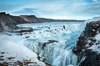 Photograph - Frozen Gullfoss by Geoff Smith