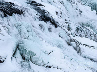 Photograph - Frozen Gullfoss In Winter by Benjamin Wiedmann