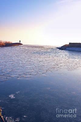Photograph - Frozen Harbour by Jan Brons