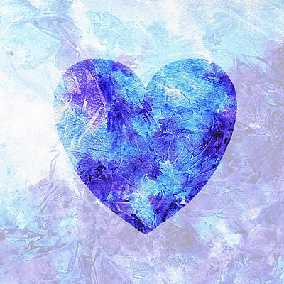 Painting - Frozen Heart Watercolor Silhouette by Irina Sztukowski