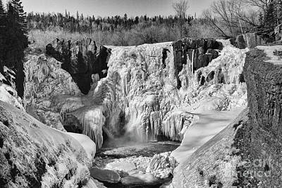 Photograph - Frozen High Falls by CJ Benson