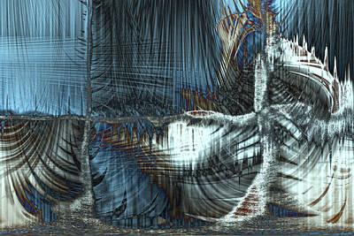 Digital Art - Frozen In The Wind by Linda Sannuti