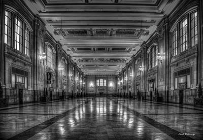 Photograph - Frozen In Time B W Union Station Kansas City Missouri Art by Reid Callaway