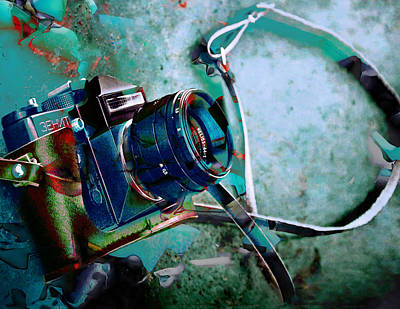 35mm Mixed Media - Frozen In Time Camera Collection by Marvin Blaine