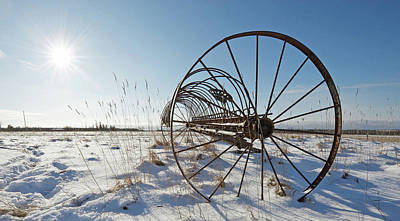 Antique Hay Rake Photograph - Frozen In Time. by Kelly Nelson