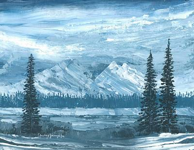 Drifting Snow Painting - Frozen In Time by Shelley Zwingli