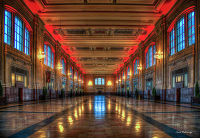Photograph - Frozen In Time Union Station Kansas City Missouri Train Art by Reid Callaway