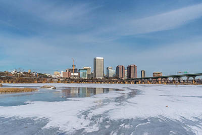 Photograph - Frozen James And The City by Doug Ash