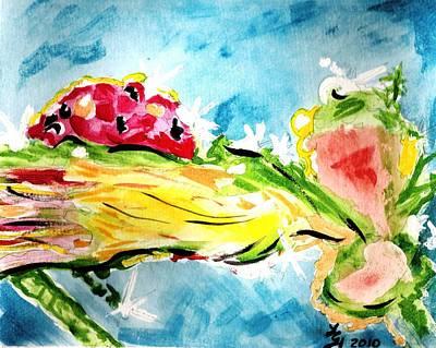 Frozen Ladybug Art Print