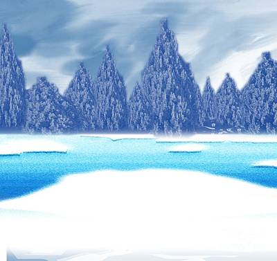 Painting - Frozen Lake by Belinda Threeths