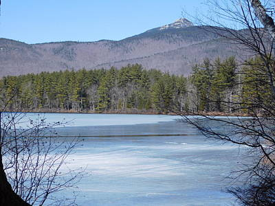 Frozen Lake Chocorua Art Print