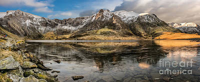 Photograph - Frozen Lake Idwal by Adrian Evans